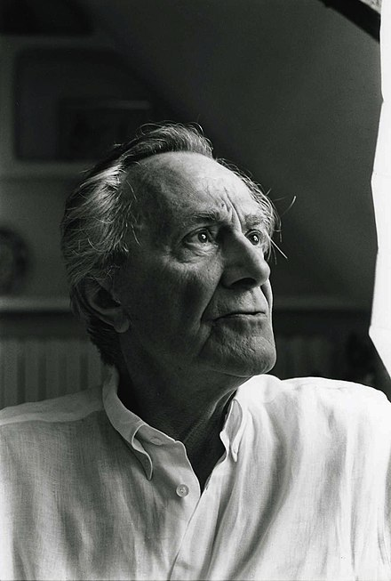 Jean-Francois Lyotard defined postmodernism as incredulity toward metanarratives. Photograph by Bracha L. Ettinger, 1995. Jean-Francois Lyotard.jpg