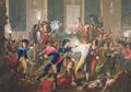 Jean-Joseph-François Tassaert - La Nuit du 9 au 10 thermidor an II, Arrestation de Robespierre - avec chiffres.png