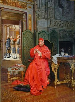 Jehan Georges Vibert --The Diet, private collection