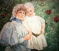 Jenny Nyström - Self-portrait with her son.jpg