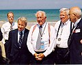 Jerry Moran joins Bob Michael and Dennis Hastert on the beaches of Normandy.jpg