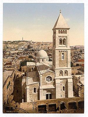 Muristan - The Church of the Redeemer (Erlöserkirche), in 1900.