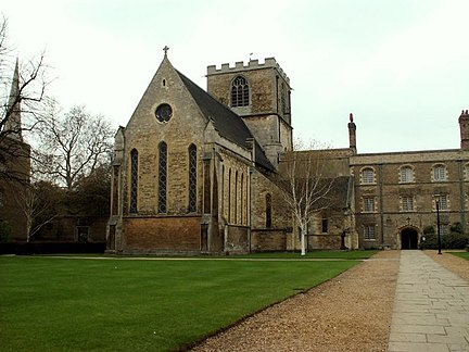 St Radegund's Priory, Cambridge; dissolved in 1496 and converted into Jesus College, Cambridge Jesus College Chapel, Cambridge - geograph.org.uk - 168873.jpg