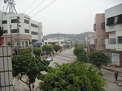 View on Huancheng Road, Lufeng City