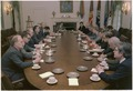 Jimmy Carter and Andrei Gromyko participate in a meeting with U.S. and U.S.S.R. officials. - NARA - 179600.tif
