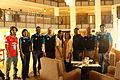 Jimmy Wales with Munir Hasan, Nasir Khan Saikat, Zahid Hossain khan and other GP employees - at BnWiki10 by Nasir Khan Saikat (3).JPG