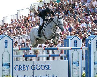 Hampton Classic Horse Show - Olympic Medalist Chris Kappler, aboard his mare, VDL Oranta, competing at the $150,000 Prudential Grand Prix at the 2006 Hampton Classic.