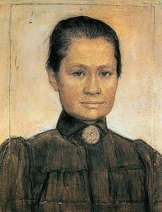 Johanna van Gogh-Bonger - Johanna Bonger, by her second husband Johan Cohen Gosschalk, 1905