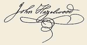 John Hazelwood - Image: John Hazelwood signature