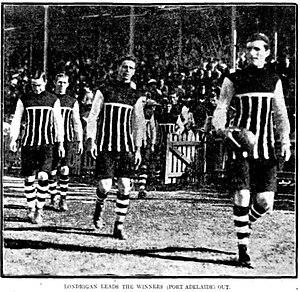 Jack Londrigan - Image: John Londrigan leading Port Adelaide onto Adelaide Oval on May 2 1914