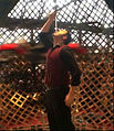 Johnny Strange world first Globe of Death sword swallow.jpg