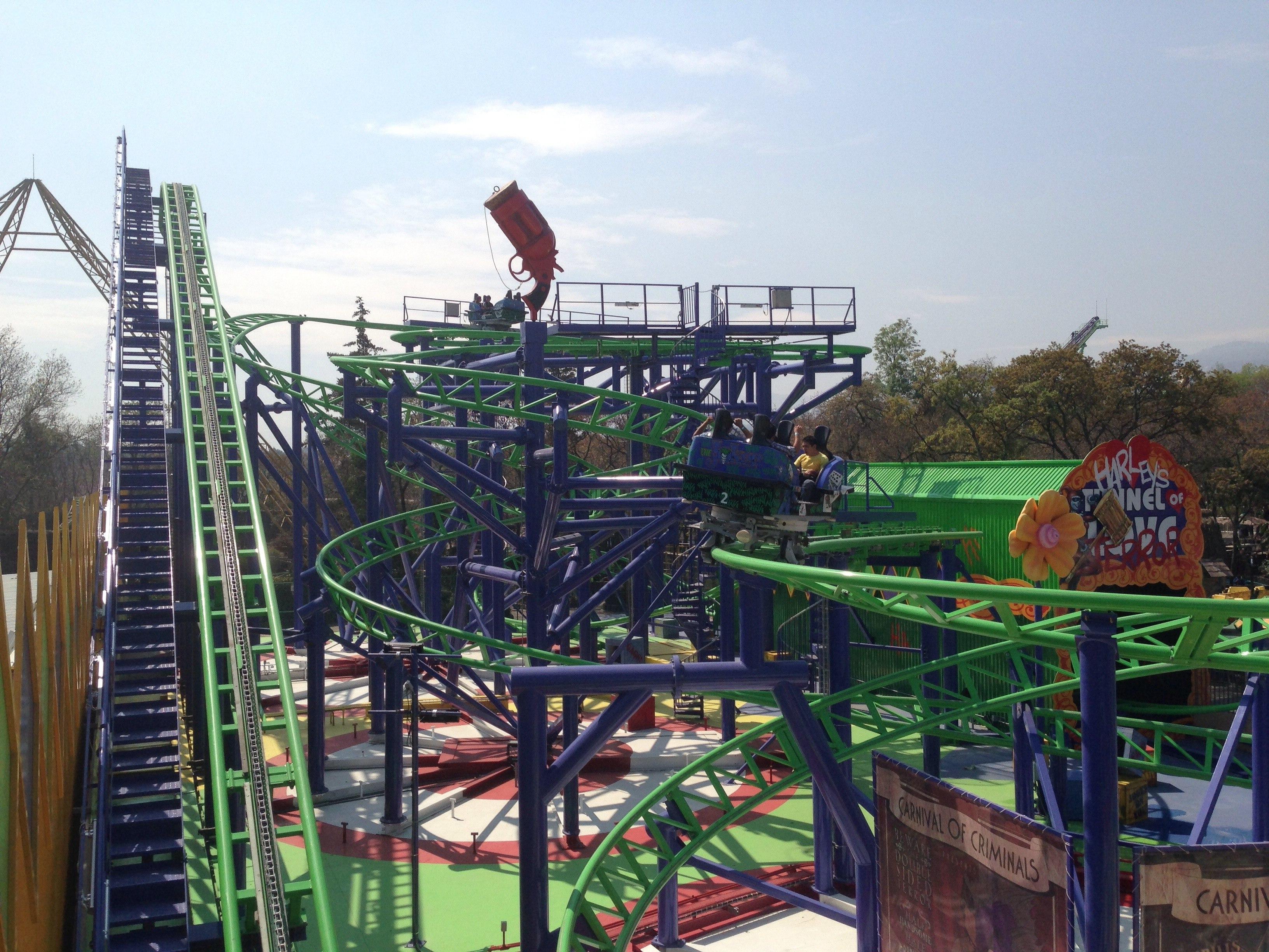 Joker Roller Coaster Six Flags New England Car Mass