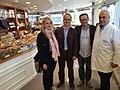 Jordi Turull, Violant Cervera i Domènec Llop visiten la fàbrica de Torrons Vicens a Agramunt.jpg