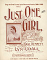 Just one girl, cover.jpg