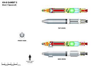 KH-8 Gambit 3 - KH-8 GAMBIT 3 (Block 1) main features