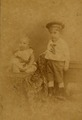 KITLV - 181500 - Lambert & Co, G.R. - Singapore-Deli - Studio portrait of two European children at Singapore or Deli - circa 1890.tiff