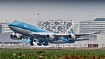 KLM Boeing 747-400 departing from Amsterdam for LA (35791088191).jpg