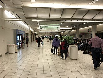 Ontario International Airport - Main corridor of Terminal 2.