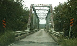Little Sandy River (Kentucky) - A bridge built for the Eastern Kentucky Railway, now used by Kentucky Route 773 over the Little Sandy River