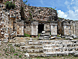 Kabah (Maya site) - Kabah, Codz Poop palace, side view