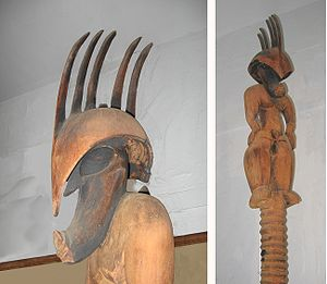 Kamapua'a - This pre-missionary wooden statue of Kamapua'a was found in a cave in up-country Maui. It is on display at the Bailey House Museum.
