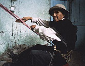Cañari - A Cañari weaver at his loom