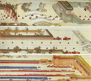 History of the Forbidden City - The Kangxi Emperor returning to the Forbidden City after a tour to the south.