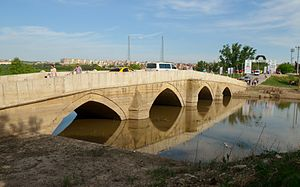 Kanuni Bridge - Kanuni Bridge over the Tunca in Edirne.