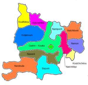 Dankpen Prefecture - Cantons of Dankpen prefecture, Togo