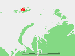 Location of the Zemlya Zichy subgroup of the Franz Josef Archipelago. Ziegler Island lies roughly in its center.