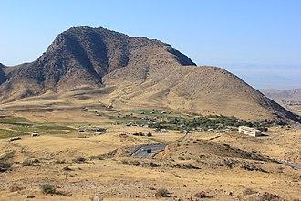 Karki, Azerbaijan - View of Tigranashen from the main north-south highway of Armenia