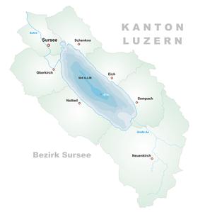 Karte Sempachersee