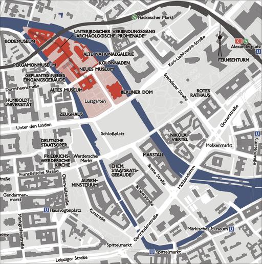 Karte Berlin Museumsinsel