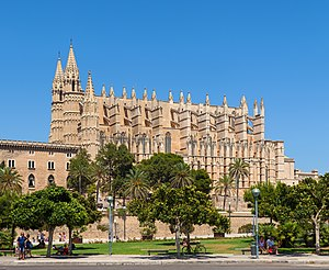 Palma, Majorca - La Seu, Palma Cathedral, built between 1229 and 1346.