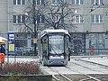 Katowice, Rynek, moderní tramvaj.JPG