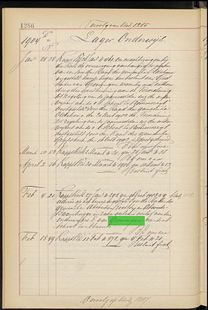 Target (project) - A screenshot of a page from the Archive of the Cabinet of the Dutch Queen (KdK) on which the word Groningen has been found by Monk.