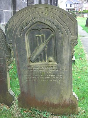 Wadsley Parish Church - The Cricketers Grave.