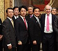 Keiichi Hayashi Shinjiro Koizumi Akihisa Nagashima and Michael Howard cropped William Hague and Members of the UK-Japan 21st Century Group 20130502.jpg