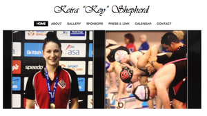 "Personal web page - The personal ""homepage"" or web page of athlete Keira Shepherd. The ""toolbar"" on the top of the page contains links to additional content, such as more digital photos, information about her sponsors, press clippings and news links, a calendar of her appearances at athletic competitions, and contact information."