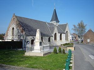 Homblières - The church of Homblières