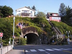 Water Street Tunnel in Ketchikan, Alaska.
