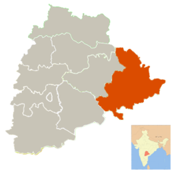 Location in Telangana, India