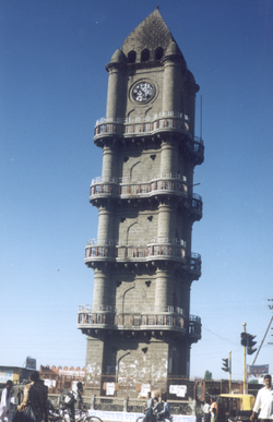 The Khandelwal Clock-tower, a landmark of Akola city