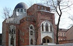 Kharkiv choral synagogue viewed from pushkinska street