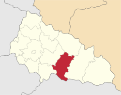 Location of Hustas rajons