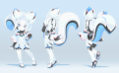 Kiki the Cyber Squirrel mascot of Krita plastic model kit design sheet.png