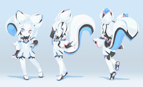 Character Design Krita : Kiki the cyber squirrel wikipedia