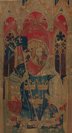 King Arthur (from the Nine Heroes Tapestries) MET DP118004 (cropped).jpg