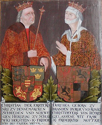 Christian I of Denmark - King Christian I and Queen Dorothea