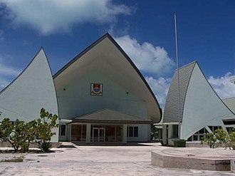Kiribati - Kiribati Parliament House.